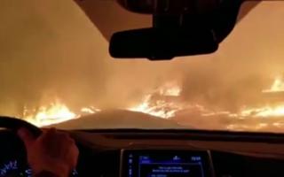 incendiu, paradise, foc, masina,