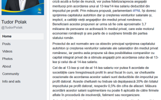 Tudor Polak, Facebook