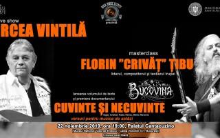 """Eveniment dedicat Anului Cărții: """"Cuvinte și necuvinte"""". Masterclass Mircea Vintilă și Florin """"Crivăț"""" Țibu"""