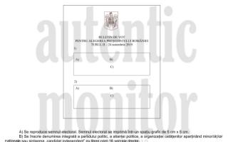 Cum arata buletinul de vot