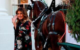 Melania Trump a dat startul sărbătorilor de iarnă