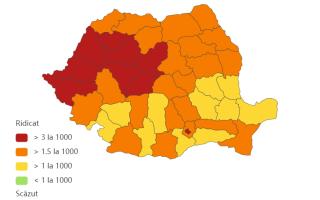 Coronavirus România, situația de județe