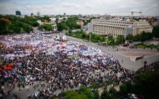 Proteste ale sindicalistilor la Guvern