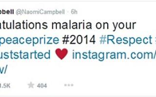 malala malaria gafa naomi campbell