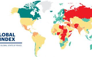 harta Global peace Index