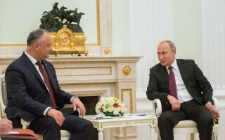 Preşedintele Moldovei, în vizită la Putin