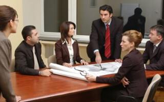 Sedinta intr-o companie din Romania