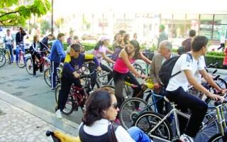 Mars al biciclistilor, in Capitala