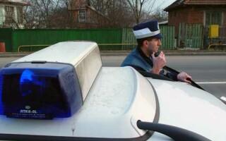 Soferul a fost oprit de politistii din Sebes
