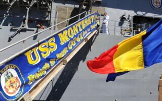 Crucisatorul USS Monterey (CJ-61), purtator al sistemului de aparare antiracheta soseste in portul Constanta, marti, 7 iunie 2011