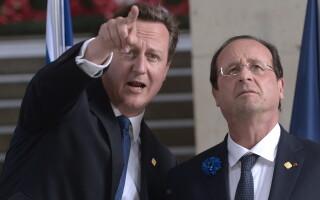 David Cameron, Francois Hollande