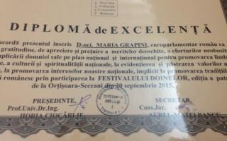 diploma primita de Maria Grapini