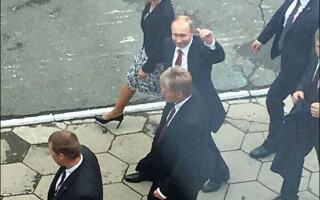 Vladimir Putin in vizita in Vladivostok