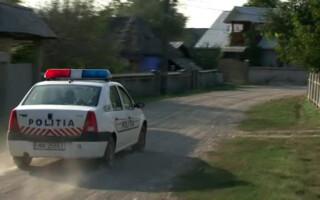 masina de politie pe ulita