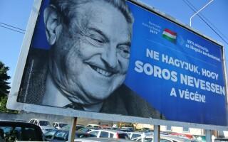 afis anti-Soros in Ungaria