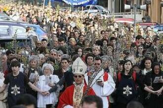 Catolicii au sarbatorit Duminica Floriilor