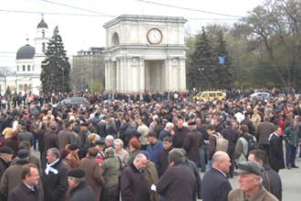 Protestul sindicalistilor a blocat traficul in centrul Capitalei