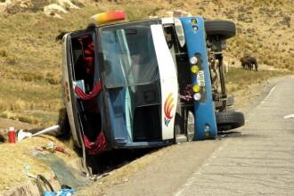 Autocar rasturnat in Spania! Sase persoane au murit, 40 au fost ranite