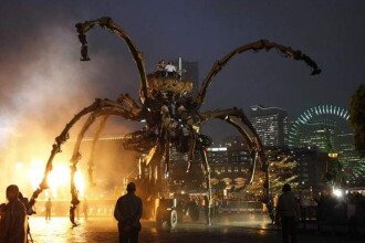 Un paianjen gigant bantuie portul japonez Yokohama!