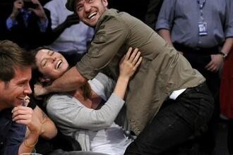Justin Timberlake si Jessica Biel, imbratisari si saruturi in public!