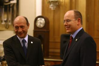 Printul Albert al II-lea de Monaco, primit de Traian Basescu la Cotroceni