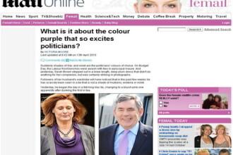 Violetul cucereste si Londra: premierul si sotia atrasi de aceasta culoare