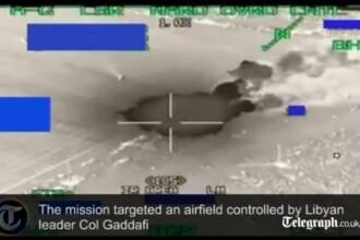 VIDEO. Cum se vad din cabina pilotilor bombardamentele Belgiei in Libia