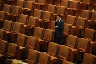 Deputati smecheri. Pe lista erau 171 de semnaturi, iar in sala doar 71