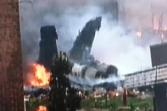 FOTO. Ce a ramas in urma dupa ce avionul de vanatoare al Fortelor Navale a lovit o zona rezidentiala