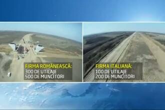 Testul lucrarilor la autostrada Timisoara-Lugoj. Ce sef este mai eficient: un roman sau un italian