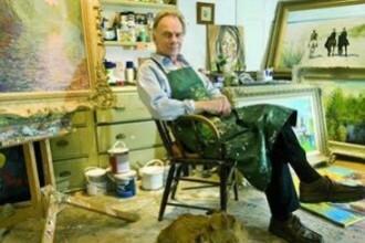 Povestea artistului care picteaza