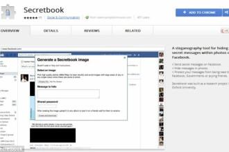 Secretbook, extensia de browser care iti permite sa ascunzi mesaje secrete in pozele de pe Facebook