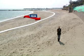 Nisip de Dunare la Marea Neagra. Proiectul autoritatilor pentru a reface plajele distruse de valuri