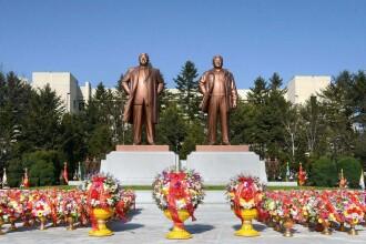 Coreea de Nord l-a aniversat in liniste pe Kim Ir Sen. Rachetele raman inca pe rampele de lansare