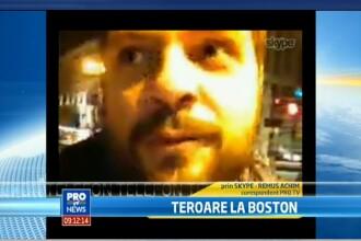 VIDEO. Trimisul special al Stirilor ProTV in Boston, Remus Achim: