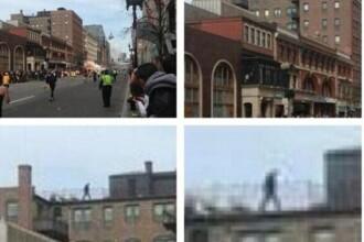 Barbatul misterios de pe acoperis - imaginea postata pe Twitter imediat dupa atentatele din Boston