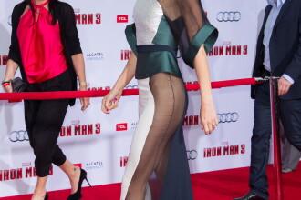 FOTO. Tinuta provocatoare purtata de Gwyneth Paltrow la premiera unui film. Nu avea lenjerie intima