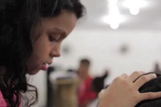 Cum arata fetita de opt ani din Brazilia care spune ca poate vindeca cancerul cu o singura atingere. VIDEO