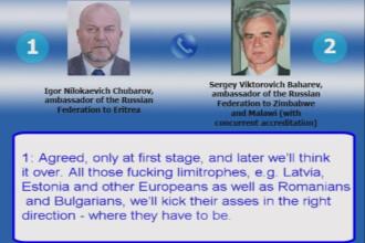 Conversatie intre diplomati rusi: