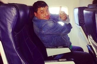 Tudorel Popa, fostul concurent de la Romanii au talent, a urcat in avionul. Ce s-a intamplat in timpul zborului