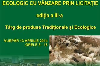 Ovine crescute ecologic, scoase la licitatie la targul din judetul Sibiu