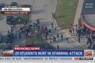 Alerta in SUA. Aproximativ 20 de elevi au fost injunghiati de un coleg la un liceu din Pennsylvania