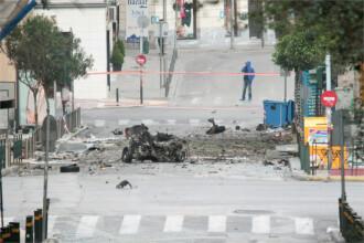 Atentat in Atena. O masina capcana a explodat in fata sediului Bancii Greciei. Nu au fost victime