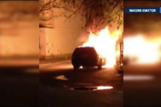 Masina unui politist din Suceava, incendiata. Anchetatorii iau in calcul un posibil atac mafiot