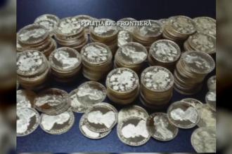 800 de monede vechi din aur, gasite sub capota unei masini, in Vama Cenad. Ce a spus soferul care le-a adus in tara