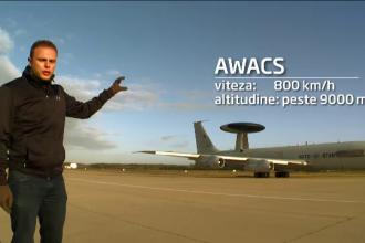 Echipa Stirilor ProTV, in premiera la o misiune NATO deasupra Romaniei. Cum arata avionul AWACS in interior