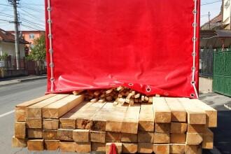 Material lemnos in valoare de 15.000 de lei, confiscat de politistii din Cluj