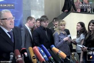 Scandal in Rusia. Vladimir Jirinovski a agresat o jurnalista insarcinata. Femeia a fost spitalizata