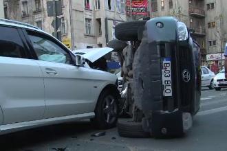 O adevarata colectie de infractiuni a strans un barbat din Sibiu. A avariat 5 masini in centrul orasului