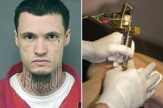Tatuajul care il poate costa libertatea pe un american. Ce scrie pe gatul unui barbat acuzat de crima
